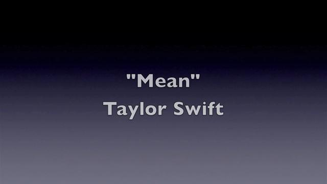 Taylor Swift - Taylor Swift - Mean video