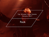 Top 10 Most Loved Rock Tracks - January 2017
