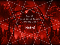 Top 10 Most Loved Metal Tracks - January 2017