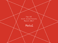 Top 10 Most Loved Metal Tracks - March 2017