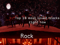 Top 10 Loved Rock Tracks