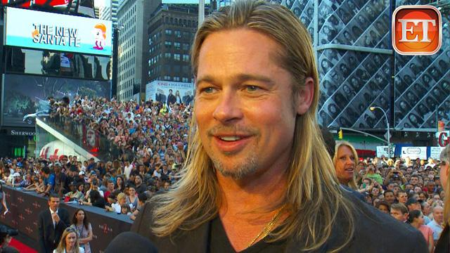 ETonline: Pitt: 'World War Z' Hoopla Is 'Pretty Damn Cool'
