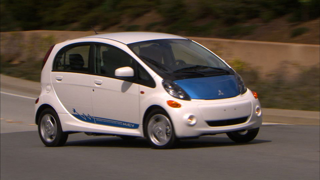 Out-smug Prius drivers in the 2012 Mitsubishi i-Miev