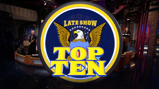 Late Show: David Letterman - Hothead Congressman Top Ten