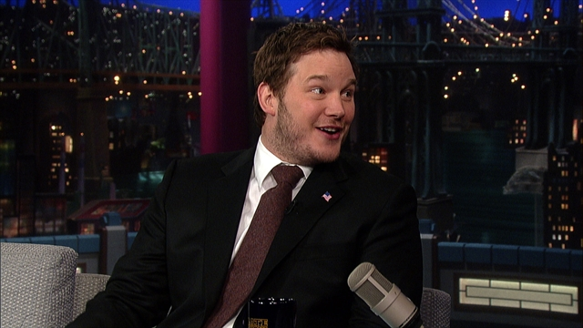 Late Show: David Letterman - Chris Pratt Lived In A Van