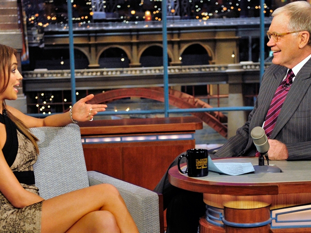 Irina Shayk On Letterman pic