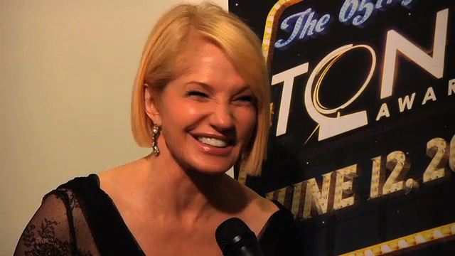 Tony Awards 2011 - Winner's Circle: Ellen Barkin