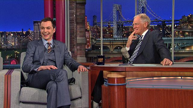 The Late Show: David Letterman - Jim Parsons' Kiss-My-Ass Birthday