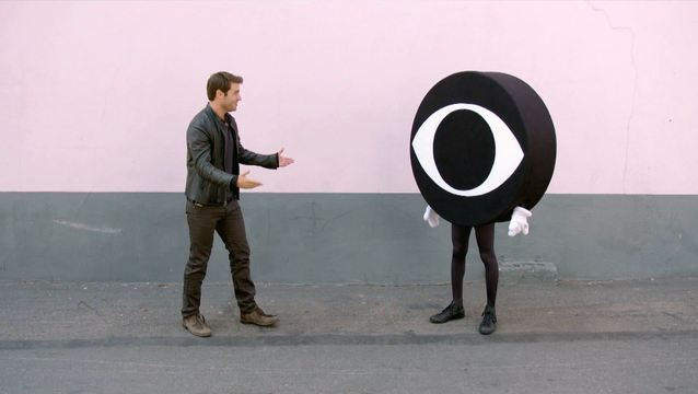 The Crazy Ones - James Wolk Chest Bump with Eye Guy