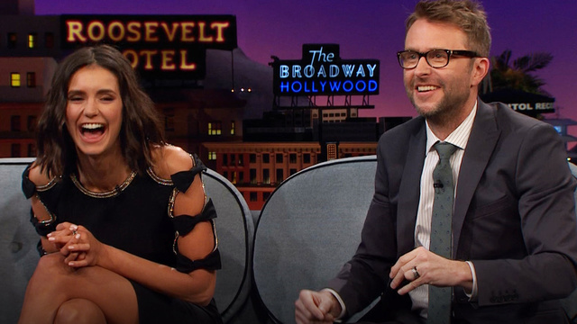 The late show with james corden nina dobrev dating