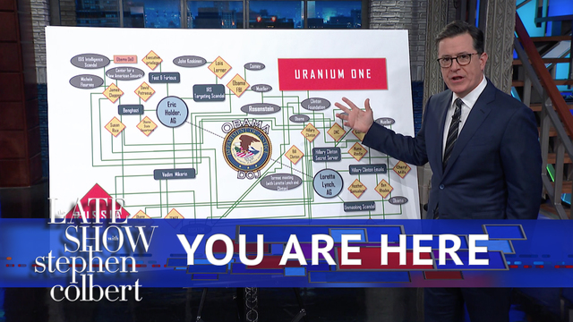Watch The Late Show With Stephen Colbert Gop S Bonkers Uranium One Chart Full On Cbs All Access