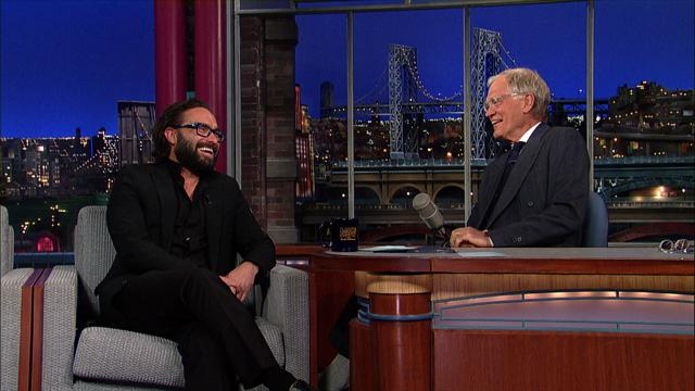 The Late Show: David Letterman - Johnny Galecki Almost Made Out With Milton Berle