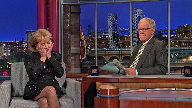 The Late Show: David Letterman - Barbara Walters on Fidel Castro