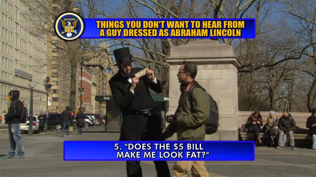 David Letterman - Abraham Lincoln Top Ten