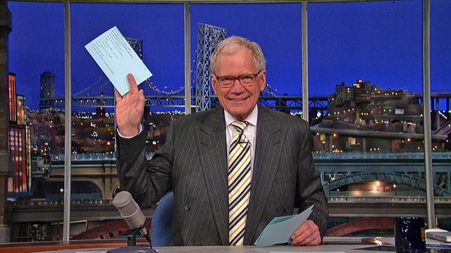The Late Show: David Letterman - Top Ten Things Overheard at the Retirement Home Brothel