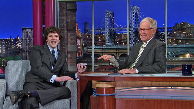 David Letterman - Jesse Eisenberg's Magic Card Trick