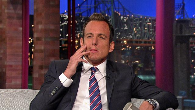 The Late Show: David Letterman - Will Arnett's Poses for Smoking
