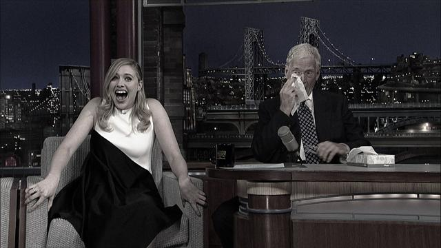 The Late Show: David Letterman - Greta Gerwig Gets a Standing Ovation