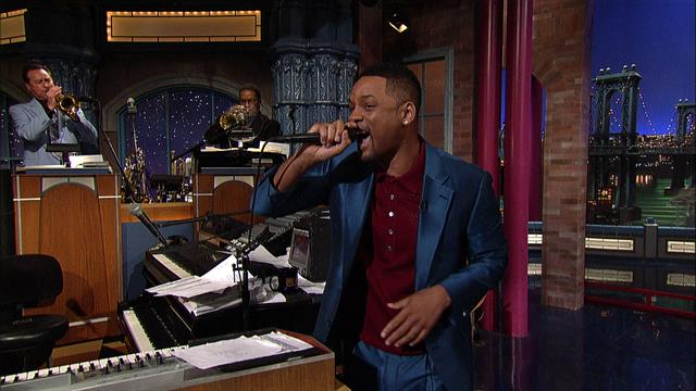 The Late Show: David Letterman - Will Smith's Impromptu Rap
