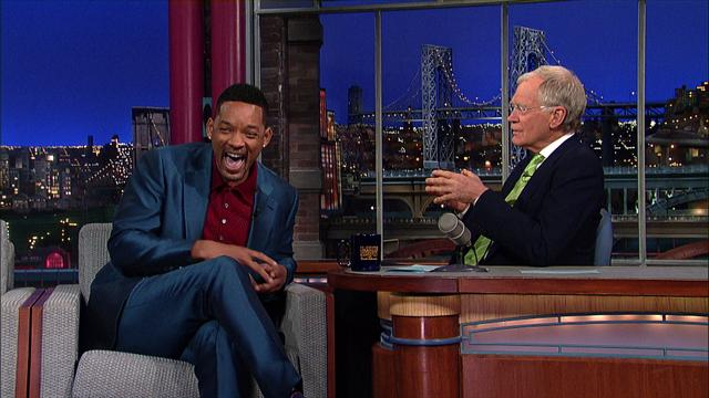 The Late Show: David Letterman - Will Smith Can't Swim