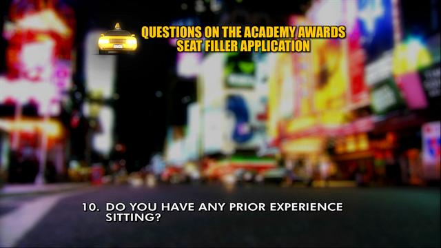 David Letterman - Academy Awards Seat Filler Top Ten