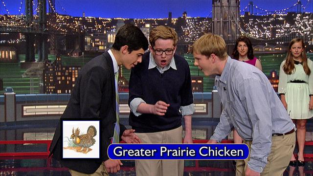 The Late Show: David Letterman - Piedmont Bird Callers: Greater Prairie Chicken