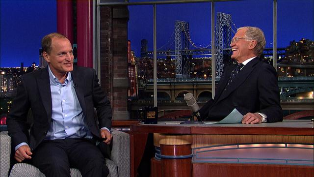 The Late Show: David Letterman - Woody Harrelson & Jennifer Lawrence's Sex Talk