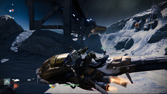 Riding the Killer Enemy Vehicle 'Pike' in Destiny - Gameplay