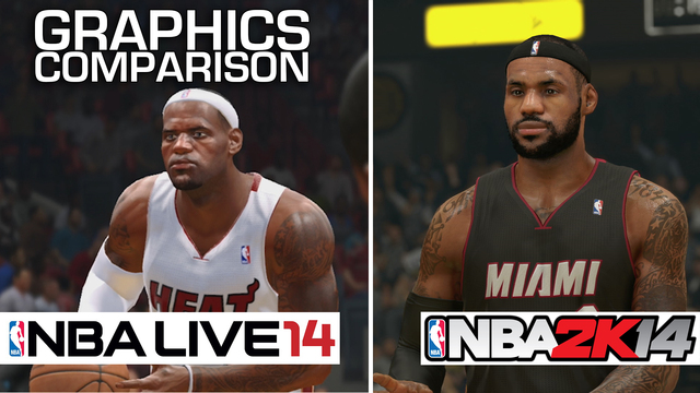 NBA Live 14 and NBA 2K14 Graphics Comparison