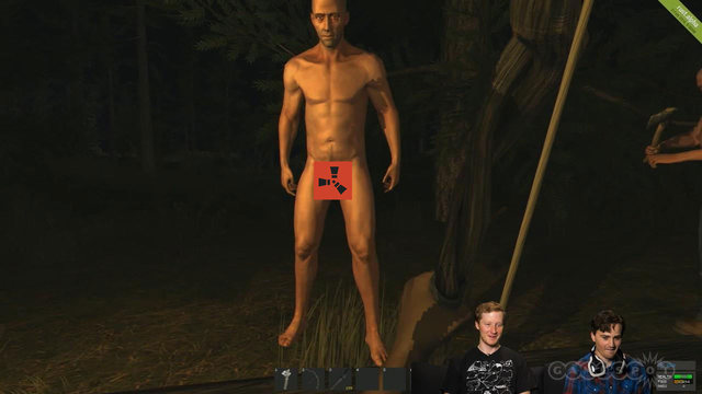 Naked man refuses to put on pants - Rust Gameplay NSFW!
