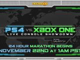 PS4 vs Xbox One 24 Hour Live Console Showdown on November 22nd