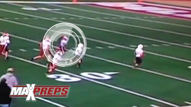 Sixth grader Kobe Blackmon rips ball away from receiver for an amazing TD #MPTopPlay
