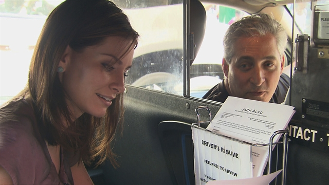 Taxi driver offers resumes with the ride   TV Guide