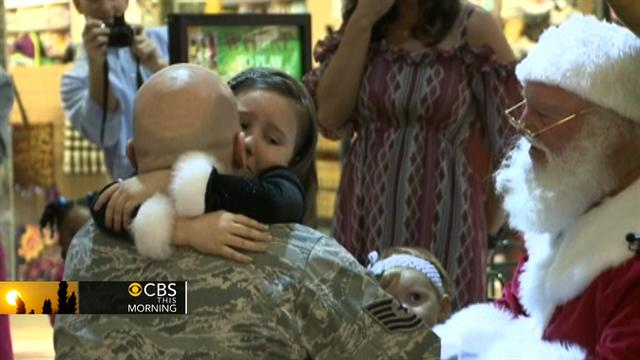 CBS This Morning: Air Force dad's Christmas surprise for his daughter