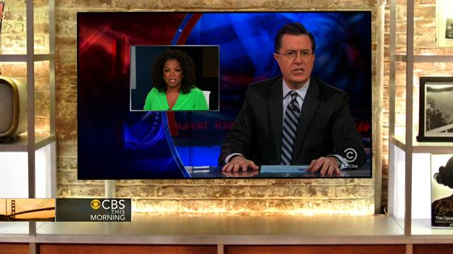 CBS This Morning What's Hot: Colbert razzes Oprah's Armstrong interview