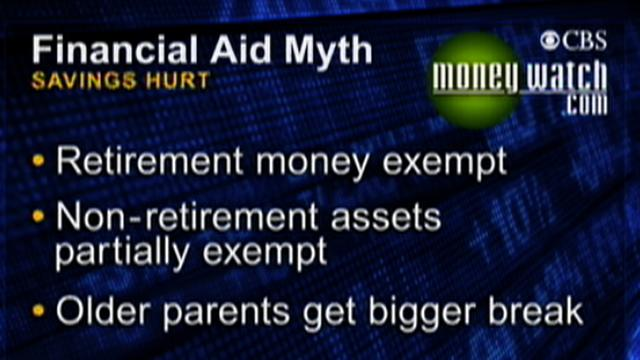 MoneyWatch: Financial aid myths: Jill Schlesinger on why you might qualify