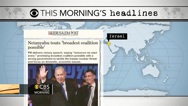 CBS This Morning: Headlines: Netanyahu will remain in power in Israel