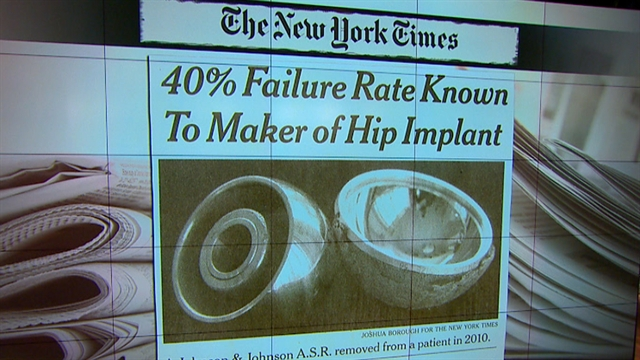 CBS This Morning: Johnson & Johnson predicted metal hip issues