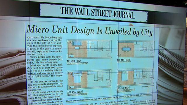 CBS This Morning: Tiny and cheap living spaces unveiled in NYC