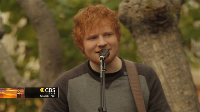 CBS This Morning : Pop Culture: Preview: Grammy nominee Ed Sheeran sings hit song
