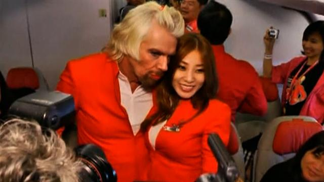 CBS This Morning : Pop Culture: Richard Branson does drag on flight