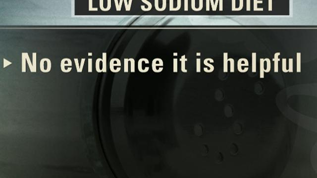 CBS This Morning: No evidence low sodium diets work, study says