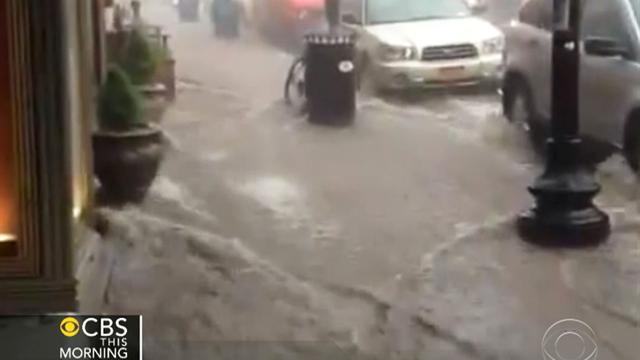 CBS This Morning: Heavy downpours flood parts of N.Y., N.J.