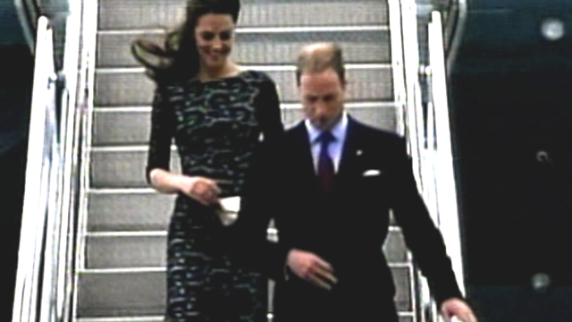 Will and Kate arrive in Canada