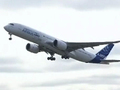 The Airbus A350 takes flight