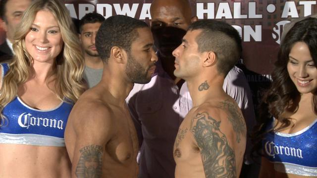 Weigh In: Peterson vs. Matthysse