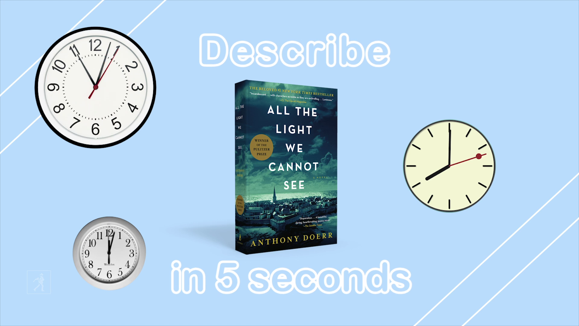 5 Second Summaries with Off the Shelf: ALL THE LIGHT WE CANNOT SEE