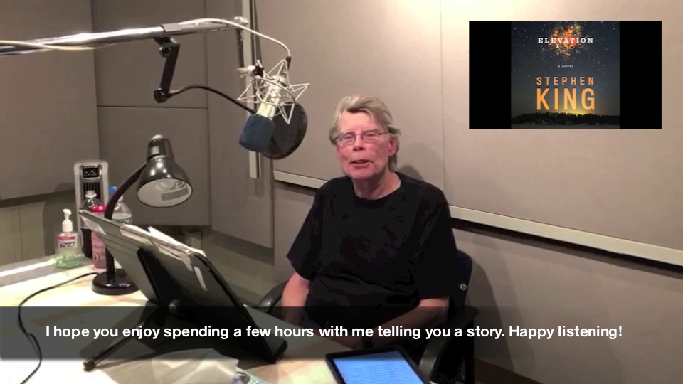 Stephen King Talks About His ELEVATION Audiobook