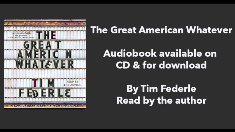 Tim Federle talks about his GREAT AMERICAN WHATEVER audiobook