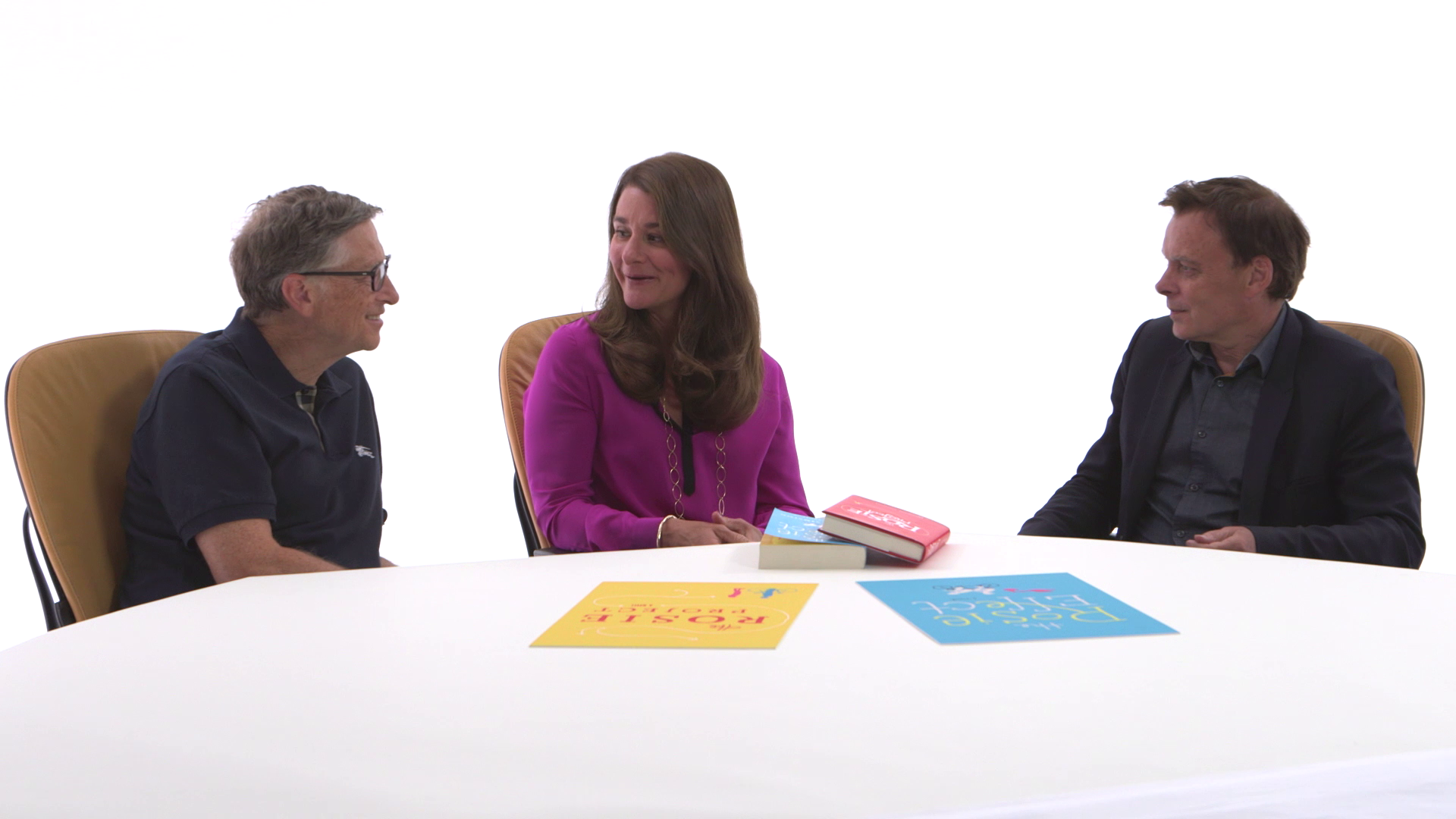 Bill and Melinda Gates discuss 'The Rosie Effect' with author Graeme Simsion